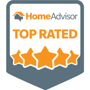 HomeAdvisor Top Rated Badge for Mighty Hauling Junk Removal