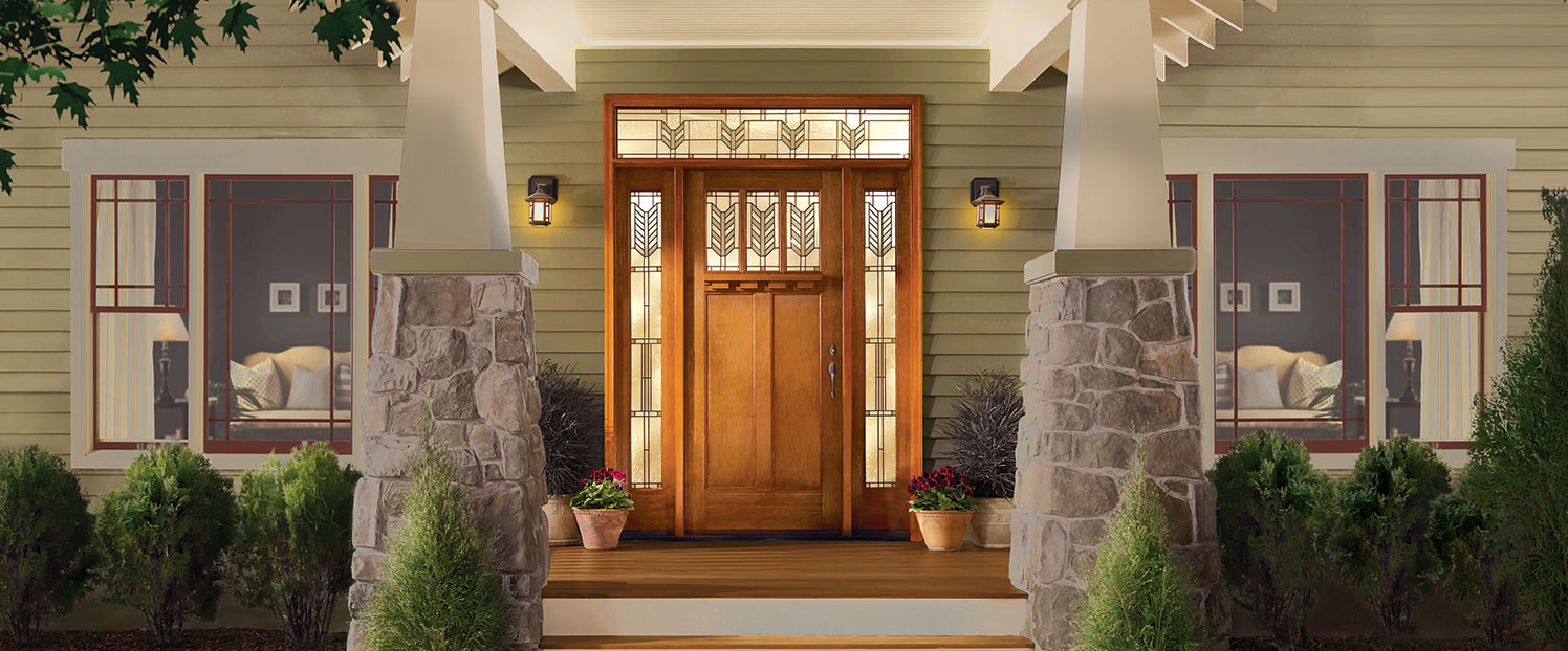 beautiful panel door with two side panels custom design
