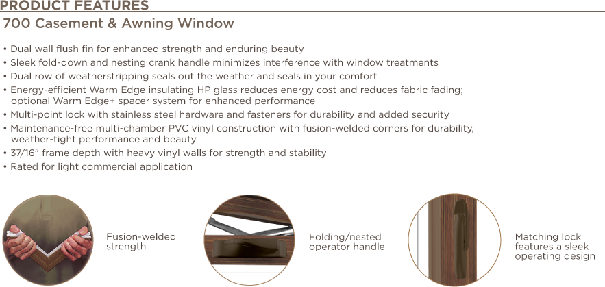 Casement Awning Window Features