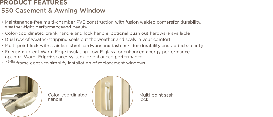 Casement Awning Window RPW Features