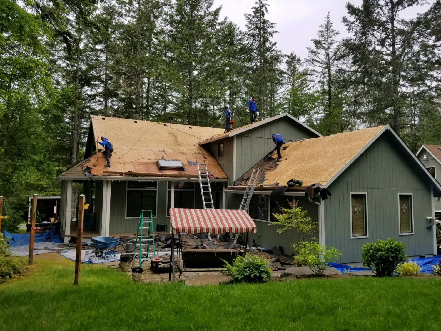 Clearview Exteriors LLC Professional Team Installing a Roof