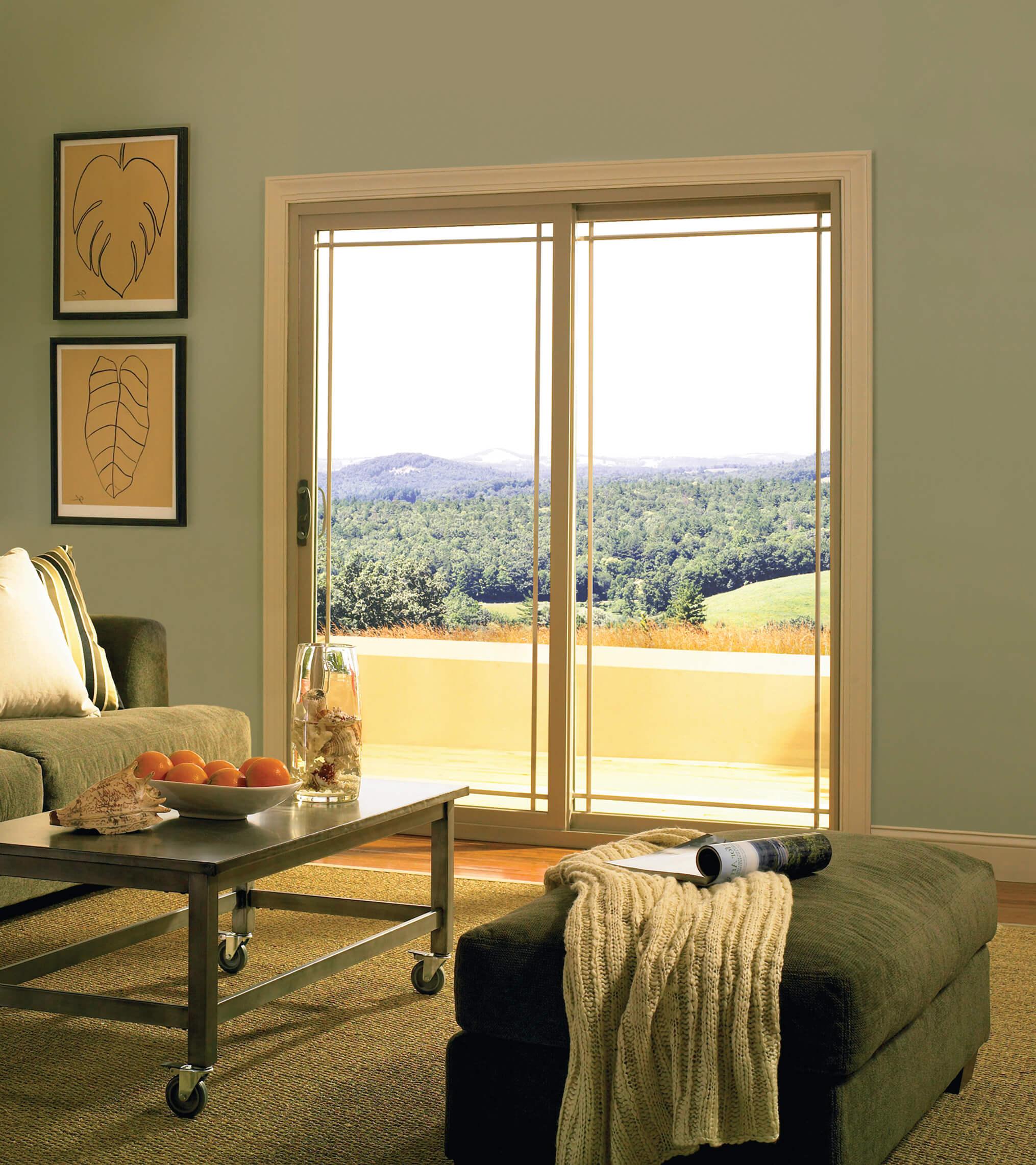 Contemporary Patio Door Tan int  High Resolution