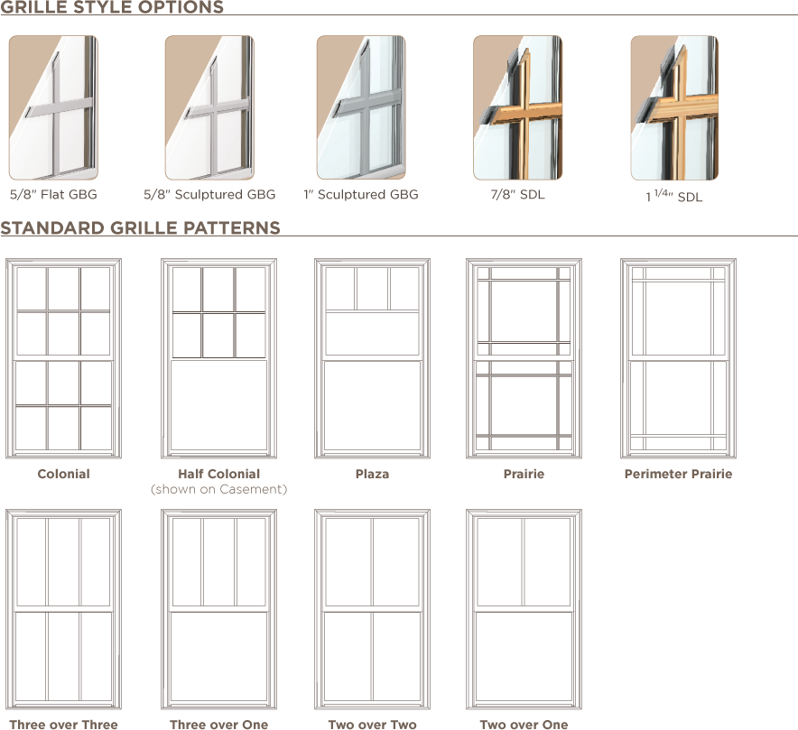 Different Window Grille Options