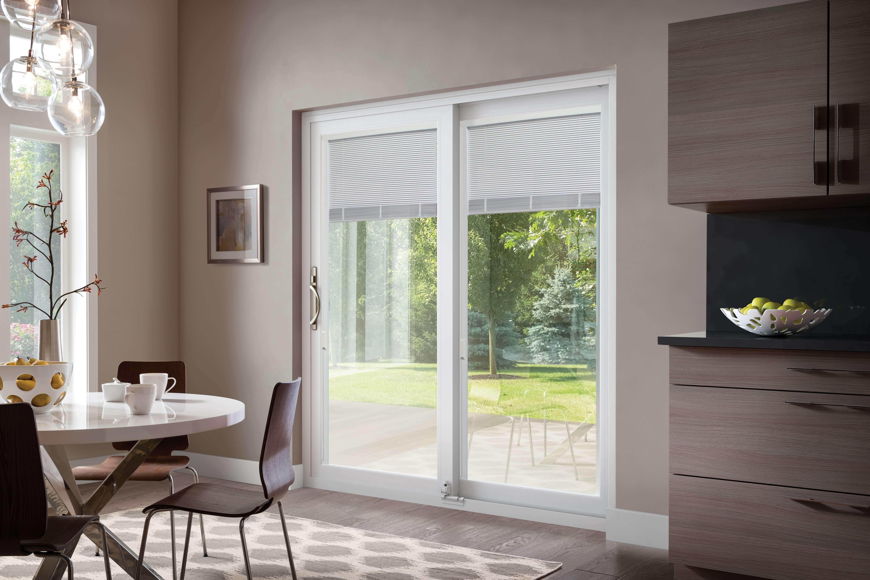 inovo interior door design with blinds open