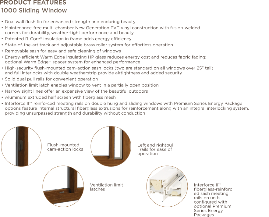 sliding window features