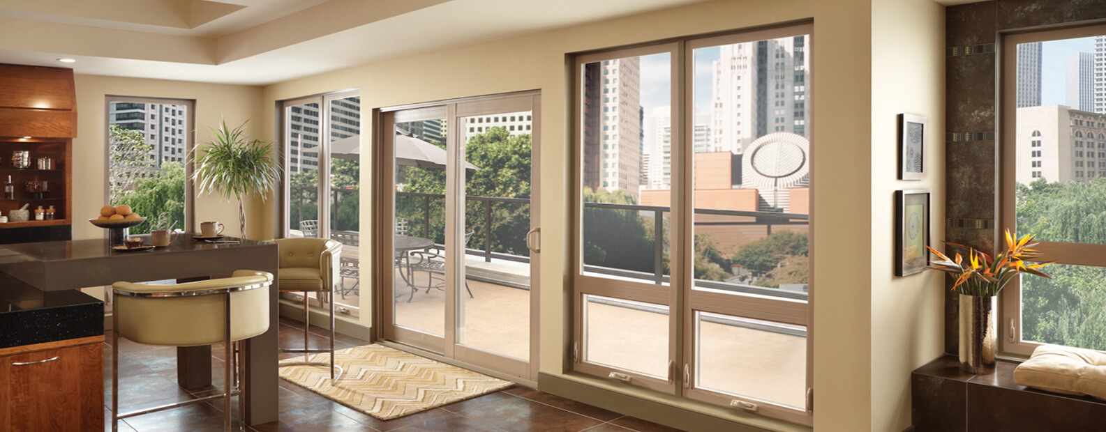 veranda view with sliding doors sliding windows